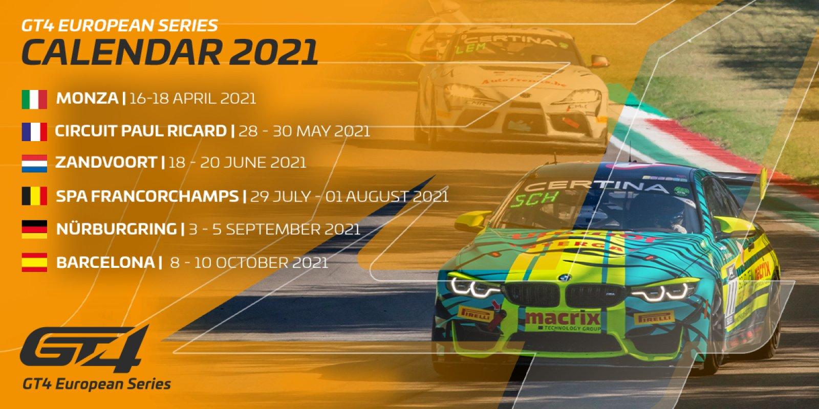 GT4 European Series reveals provisional calendar for 2021 campaign